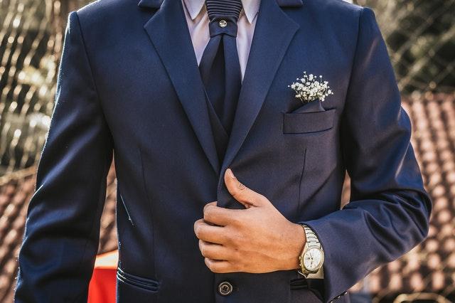 Elegant male formal wear